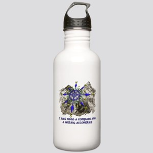 compass and willing accomplice-1-Mt Water Bottle