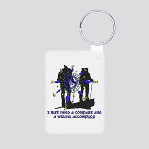 compass and willing accomplice-1-HIKING Keychains