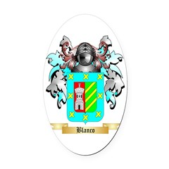 Blanco Oval Car Magnet