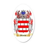 Blanche Oval Car Magnet
