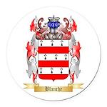 Blanche Round Car Magnet