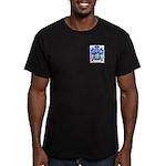 Blanc Men's Fitted T-Shirt (dark)