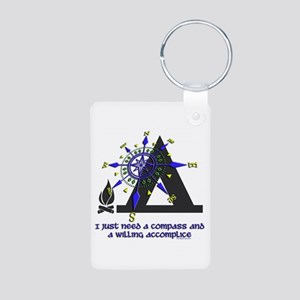 compass and willing accomplice-1-CAMPING Keychains
