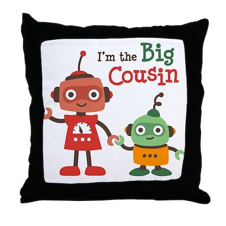 Big Cousin - Robot Throw Pillow