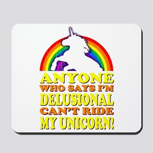 Funny Unicorn (vintage distressed) Mousepad