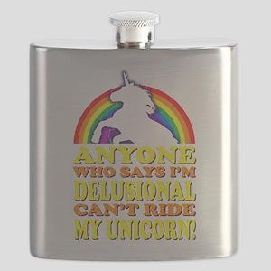 Funny Unicorn (vintage distressed) Flask