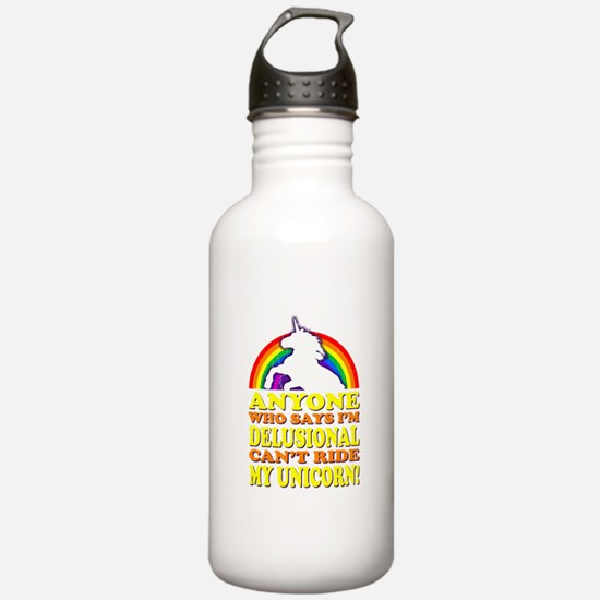 Funny Unicorn (vintage distressed) Water Bottle
