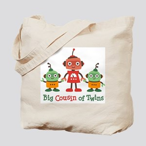 Big Cousin of Twins - Robot Tote Bag