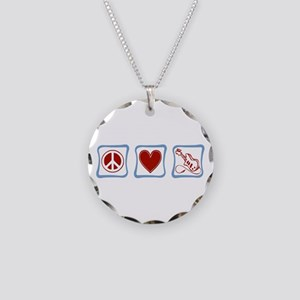 Guitar Necklace Circle Charm