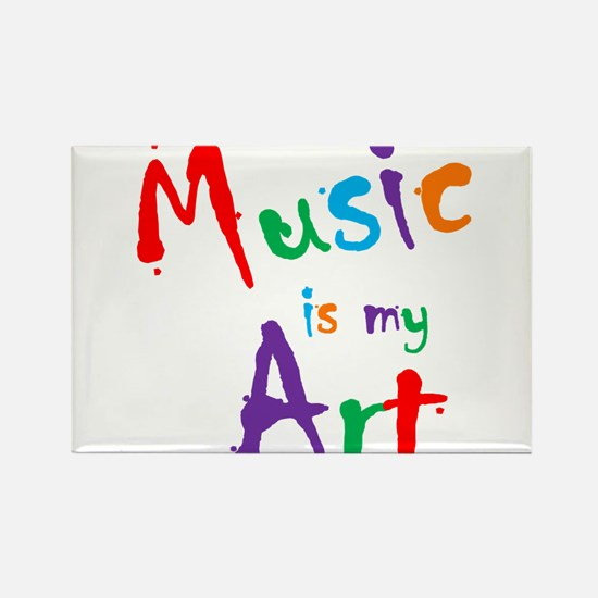 Music is my Art Rectangle Magnet