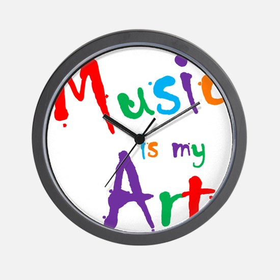 Music is my Art Wall Clock