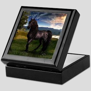 Freisian Horse Keepsake Box