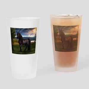 Freisian Horse Drinking Glass