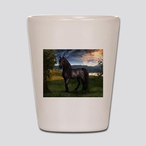 Freisian Horse Shot Glass