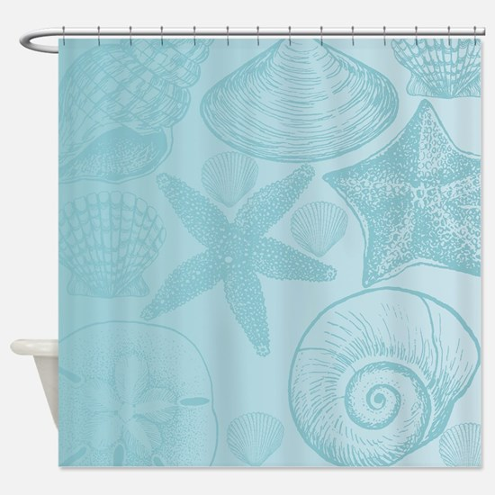 beach theme shower curtains cafepress. Black Bedroom Furniture Sets. Home Design Ideas