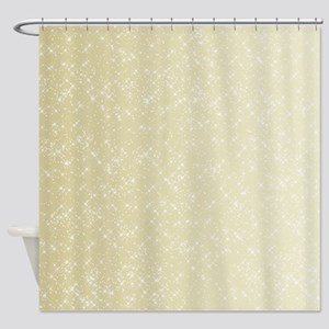 Gold sparkles Shower Curtain