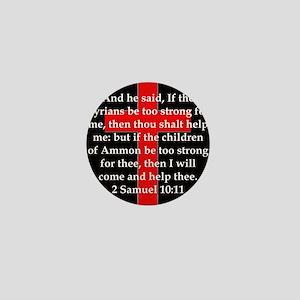 2 Samuel 10:11 Mini Button