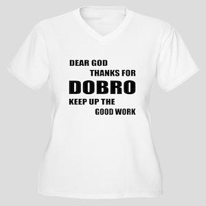 Dear God Thanks F Women's Plus Size V-Neck T-Shirt