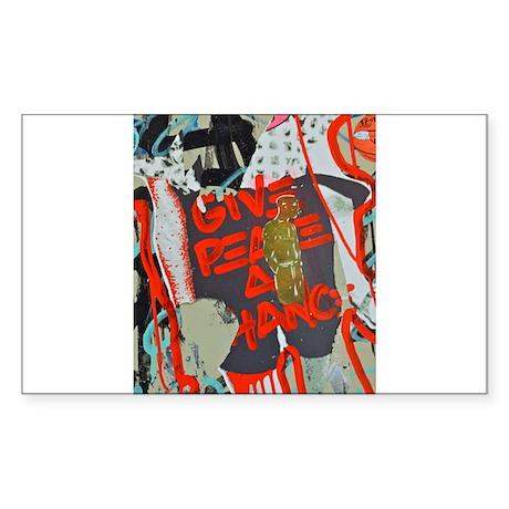 New York Graffiti: Give Peace a Chance Sticker