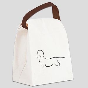 Dandie Dinmont Sketch Canvas Lunch Bag