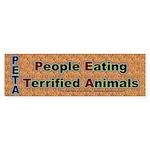 PETA Eata Sticker (Bumper)