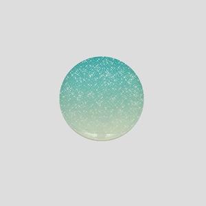 Sparkling Aqua Sea Mini Button