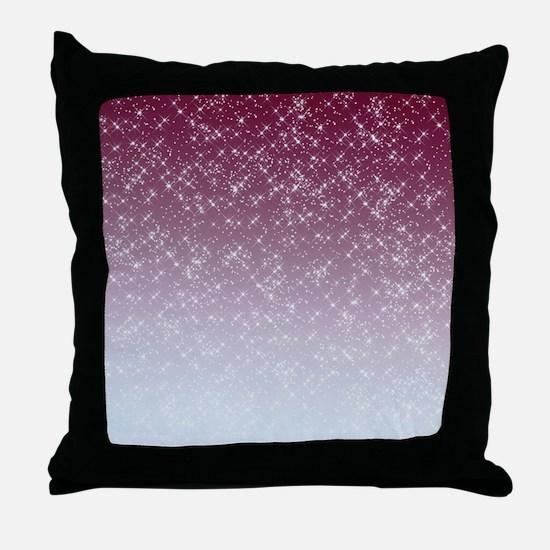Sparkling Pink Throw Pillow