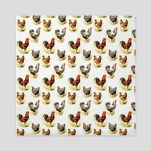 Country Chicken Pattern Queen Duvet