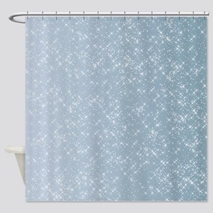 Sparkling Blue Shower Curtain