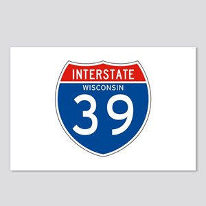 Interstate 39 - WI Postcards (Package of 8)