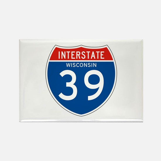 Interstate 39 - WI Rectangle Magnet