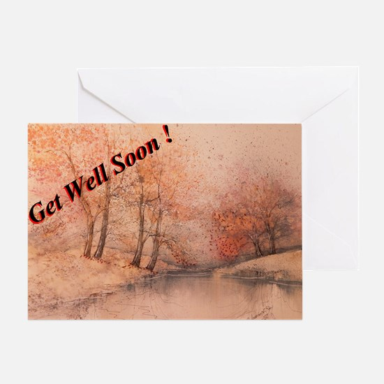Get Well Soon Country Haze Greeting Card