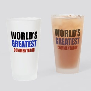 commentator Drinking Glass