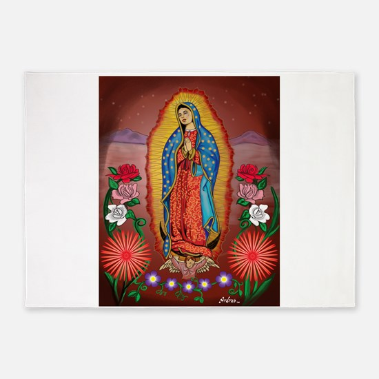 Virgin of Guadalupe 5'x7'Area Rug