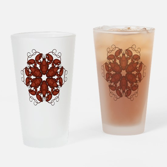 Lobsters Drinking Glass