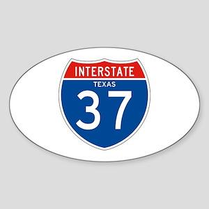 Interstate 37 - TX Oval Sticker