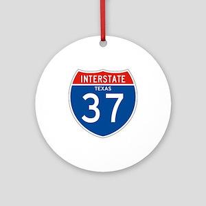 Interstate 37 - TX Ornament (Round)
