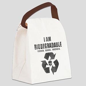 I'm Biodegradable Canvas Lunch Bag