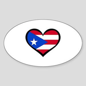 Puerto Rico Love Heart Rectangle Sticker