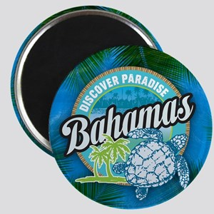 Bahamas button Magnet