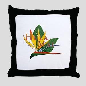 Hula Mai logo Throw Pillow