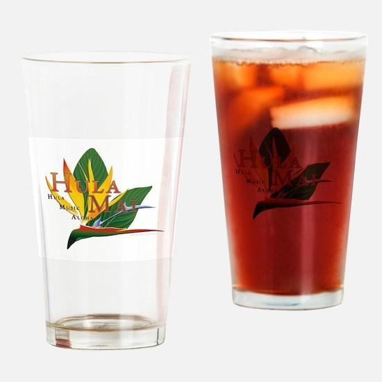 Hula Mai logo Drinking Glass