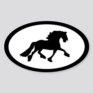 Friesian Horse Oval Sticker
