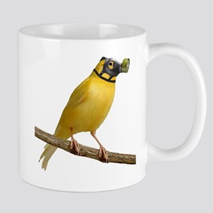 Canary in gas mask Mugs