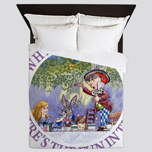 MAD HATTER - WHY BE NORMAL? Queen Duvet
