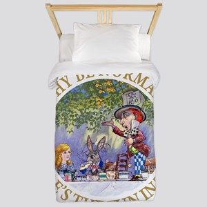 MAD HATTER - WHY BE NORMAL? Twin Duvet