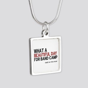 Band Camp Silver Square Necklace