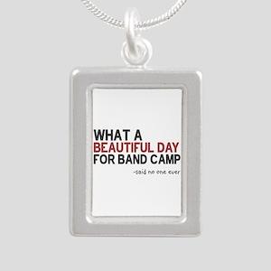 Band Camp Silver Portrait Necklace