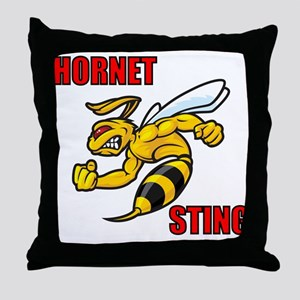 Hornet Sting Throw Pillow