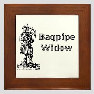 Bagpipe Widow Framed Tile